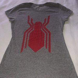 Never worn women's size medium Spiderman shirt